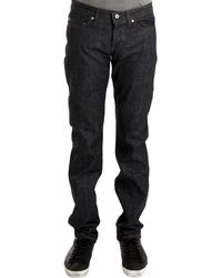 Naked & Famous Weird Guy Suvin Els Cotton Selvedge black - Lyst