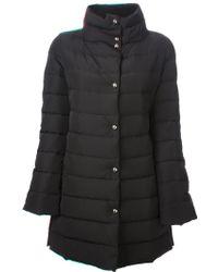 Emporio Armani Black Padded Coat - Lyst