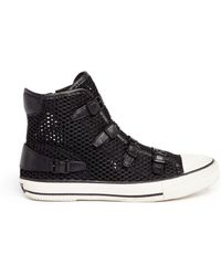 Ash 'Vanessa' Leather Strap Mesh High Top Sneakers - Lyst