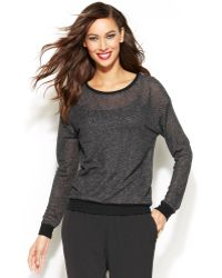 Inc International Concepts Metallic Scoop-neck Sweater - Lyst