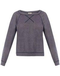 L'Agence - Raglan-Sleeved Cotton Jumper - Lyst