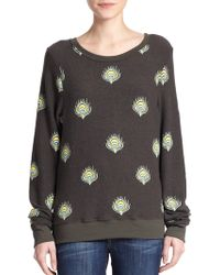 Wildfox Peacock Print Sweatshirt - Lyst
