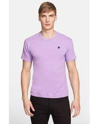 Comme des Garçons 'Black Emblem' Cotton Jersey T-Shirt - Lyst
