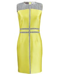 J. Mendel Graphic Lace Dress yellow - Lyst