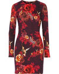 Matthew Williamson Treasured Garden Printed Stretch Sotton Jersey Dress - Lyst