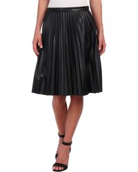 Calvin Klein Short Pleated Skirt - Lyst