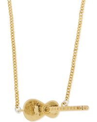 Marc By Marc Jacobs - Golden Guitar Solo Necklace - Lyst