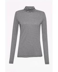 French Connection | Starzy Stripe Roll Neck Top | Lyst