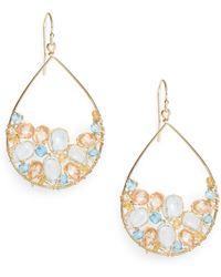 Nunu - Blue Quartz & Citrine Cluster Earrings - Lyst