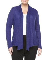 Eileen Fisher Knit Draped Cardigan Viola - Lyst