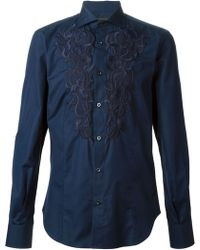 Ermanno Scervino Embroidered Shirt - Lyst