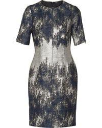 Yigal Azrouel Metallic Bouclã Mini Dress - Lyst
