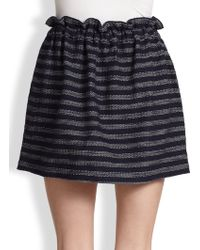 Marc By Marc Jacobs Dalea Striped Tweed Paperbagwaist Skirt - Lyst