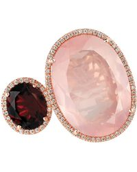 Marco Moore | 14k Rose Gold, Quartz And Diamond Ring | Lyst