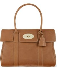 Mulberry Bayswater Tanned Leather Bag Oaksoft Gold - Lyst