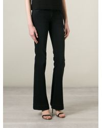 J Brand Lovestory 22 Flared Low-Rise Stretch-Denim Jeans - Lyst