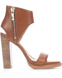 Rachel Zoe Tan Leather Jamie Open Toe Cutout Sandals - Lyst