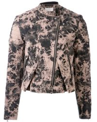 3.1 Phillip Lim Denim Biker Jacket - Lyst
