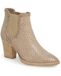 Aquatalia by Marvin K 'Dani' Woven Leather Bootie - Lyst