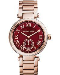 Michael Kors Ladies Skylar Rose Gold Tone Watch - Lyst