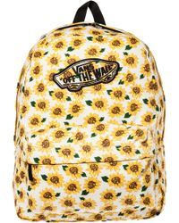 Vans The Realm Backpack yellow - Lyst