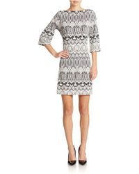 Donna Morgan Patterned Shift Dress - Lyst
