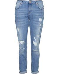 Topshop Petite Moto Slim Lucas Jeans - Lyst