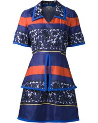 Suno Piped Layer Dress - Lyst