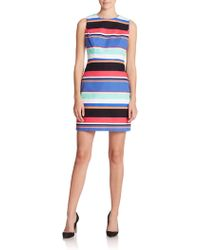 Kate Spade Mariam Tropical-Striped Dress - Lyst