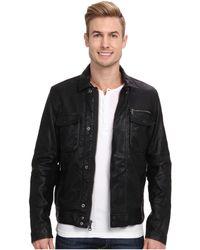 Calvin Klein Jeans Faux Leather Moto Jacket - Lyst