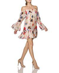 Cynthia Rowley Off-The-Shoulder Silk Chiffon Dress - Lyst