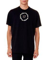 Givenchy Short-Sleeve Tee With 17 Floral Crown Graphic - Lyst