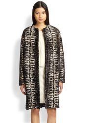Diane von Furstenberg Cymbeline Calf Hair Coat - Lyst