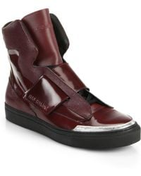 Raf Simons Leather High-top Sneakers - Lyst