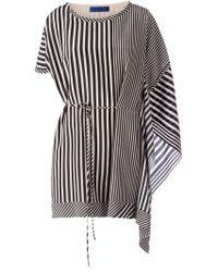 Sharon Wauchob - Striped Tie Waist Dress - Lyst