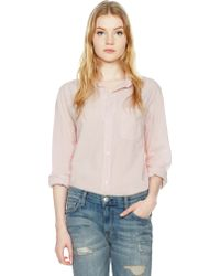 Current/Elliott The Prep School Shirt pink - Lyst