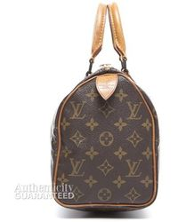 Louis Vuitton Preowned Monogram Canvas Speedy 25 Bag - Lyst
