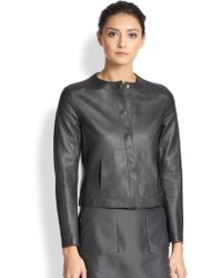 Akris Rabitha Reversible Leather Jacket - Lyst