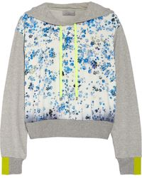 Preen Forget Me Not Silkpaneled Cotton Sweatshirt - Lyst