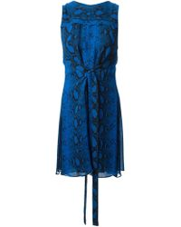 Proenza Schouler Snakeskin Print Crepe Dress - Lyst