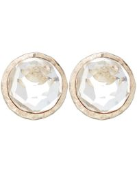 Ippolita - Silver Clear Quartz Stud Earrings - Lyst