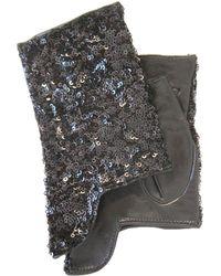 Thomasine Gloves | Dublin Mitaine Short Sequins Black | Lyst