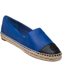 Tory Burch   Embroidered Leather Espadrilles    Lyst