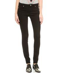 Maison Kitsuné - New Skinny Jeans - Black - Lyst