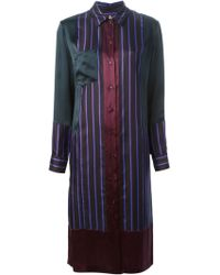 Paul Smith Striped Shirt Dress - Lyst