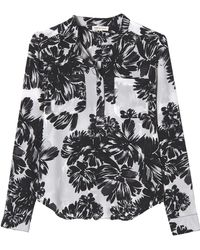 Rebecca Taylor Splashy Flower Double Pocket Top - Lyst