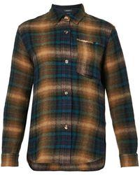 Isabel Marant Gilane Checked Wool-Blend Shirt - Lyst