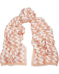 Missoni Metallic Organza-Trimmed Crochet-Knit Scarf - Lyst
