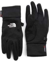 The North Face Black Power Stretch Gloves - Lyst