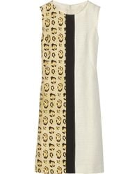 Giambattista Valli Paneled Linenblend Dress - Lyst